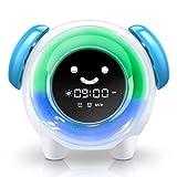 Wecker für Kinder - CYOUH Kinderwecker Wake Up Lichtwecker, Kinder schlafen Trainer mit 7 Farben...