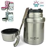 Wenburg Thermobehälter/Isolierbehälter Wolton - 450 ml I Premium Speisebehälter mit Löffel, für...