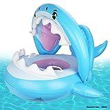 Weokeey Baby Schwimmring Baby Schwimmhilfe Baby Pool Schwimmring mit Sonnenschutz – Aufblasbarer Schwimmreifen für Kinder ab 9 Monaten bis 36 Monaten
