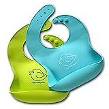 Wasserdichtes Lätzchen aus Silikon mit einfacher Reinigung! Bequeme, weiche Baby-Lätzchen, die...