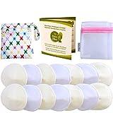Baby Bliss Waschbare Bambus Stilleinlagen Konturiert (14er-Pack) (Weiss/Beige, 10cm)
