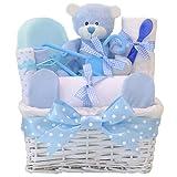 Angel en osier blanc bleu bébé Panier Cadeau/Panier/Baby Pour Bébé Douche cadeau souvenir de bébé/New Arrival//envoi rapide