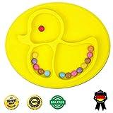 Babylovit BPA-freies Rutschfester Silikonteller Schale Platzdeckchen Tischset Kinderteller
