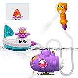 GizmoVine Badespielzeug U-Boot Boot Set Badewannenspielzeug Set Schwimmendes Poolspielzeug...