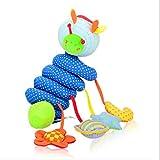 LIXIAQ1 Baby Musik Bett Hängen Krippen Spielzeug Niedlichen Plüsch Aktivität Kinderwagen Stofftiere Hängen Geschenk für Baby Kinder