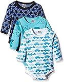 Care Baby - Jungen Langarm-Body im 3er Pack, Blau (Dark Navy 778), 12 Monate (Herstellergröße: 80...