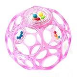 Oball - Rattle 10 cm Spielzeug mit Rasselperlen Rosa
