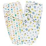 Lictin Pucksack Pucktuch Baby Strampelsack aus 100% Baumwolle 2PCS Pucksack Baby für Neugeborene...