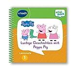 Vtech 80-480404 MagiBook Lernstufe 1 Lustige Geschichten mit Peppa Pig Lernbuch, Mehrfarbig
