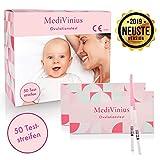 MediVinius Ovulationstest 50 Streifen - Fruchtbarkeitstest für Frauen - Eisprung Teststreifen -...