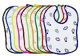 Heaven 10x Lätzchen, Musselin, Baby-Lätzchen, Baby Unisex 100% Baumwolle, saugstark, waschbar. Hypoallergen und antibakteriell Wasserdicht, bunt, speichelfest, Stillen.