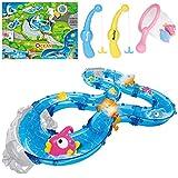 iBaseToy Angelspielzeug für Kleinkinder, buntes schwimmendes Badespielzeug mit Wasserspur, Fischen,...