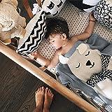 GoMaihe Strickdecke Babydecke, 110×85cm Niedlich Kuscheldecke Kinder Decke, Kinderwagen im Freien Kinderdecke Krabbeldecke, Kleine Geschenke für Baby Erstausstattung Geburt Junge Mädchen, Bär