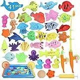 Ucradle Magnetisches Angelspielzeug, 41 Stück, wasserfest, magnetisch, zum Angeln, Spielset, tolles...