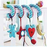 kemai Baby Spiral-Spielzeug zum Aufhängen, niedliches Tier-Spielzeug für Kinderwagen, Kinderwagen, Krippe, Spielzeug mit Spirale, Plüsch, Spielzeug für Kinderwagen und Reisen