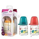 NIP Flaschenkühler Cool Twister inkl. inkl. 2 x NIP Weithalsflasche aus GLAS 120 ml mit Sauger M...