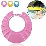 Ibepro Duschhaube für Kleinkinder, Babys und Kinder zum Schutz von Augen und Gesicht beim Baden...