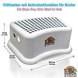 Lama Sam & Friends - Einstufiger Tritthocker für Kinder ab ca. 18Monaten mit Anti-Rutsch-Funktion in Farbe (Grau)