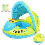 Peradix Baby Schwimmring Aufblasbares Schwimmen Ring Kinderboot Beach Sommer Hingucker für Wasserspaß Familienspaß in See Meer - Schwimmbad umweltfreundlich PVC (Grün)