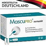 MascuPRO Fertilität für normale Fruchtbarkeit & Spermienproduktion 60 Kapseln Folsäure, Zink,...