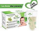 Muttermilchbeutel, BPA- und Latexfreier Aufbewahrungsbeutel zum einfrieren, 210 ml, 100 stück(Die Wahl der Eltern)