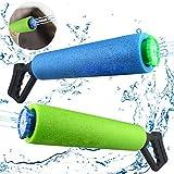 Baztoy Wasserpistole Spielzeug für Kinder Junge Mädchen Erwachsene Wasserpistolen Set Outdoor Spielzeug Wasserspritzpistole Shooter Perfekt Wasserspielzeug Geschenk für Garten Pool Schwimme Party 2PCS