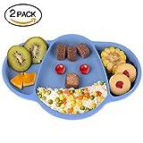 ChaseBaby Baby Silikon Tischset 25x17.2x3cm (2 Packung), Saugnapf Silikon Platzdeckchen Fütterung...