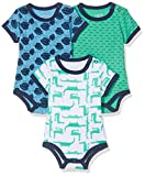 Care Baby - Jungen Kurzarm-Body im 3er Pack, Mehrfarbig (Winter Green 931), 12 Monate...