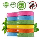 omitium Mückenschutz Armband 12 Stück Insektenschutz Armband Anti mücken Armband 100% natürliche Pflanzenextrakte Mückenarmband zum Schutz für Babys, Kinder, Erwachsene