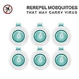 Mosteck Mückenschutz Schnalle, Insektenschutzmittel Klemme für Innenraum und Außen Wasserdicht Insekten abwehrend mit 60-Tage Schutz, kein Hautkontakt natürlich sicher für Kinder Erwachsene