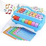 SGILE Spielzeug Klavier Keyboard Kinderpiano mit Trommel, Babyspielzeug mit Musik und Lichter, Elektrisches Musikspielzeug , Musikalische Früherziehung Geschenk für Babys und Kleinkinder (Stil 6)