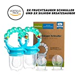 Baby Fruchtsauger Schnuller für Obst und Gemüse - Aus Premium Silikon zu 100% BPA-frei -...