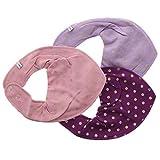 Pippi 3er Pack Baby Mädchen Halstuch mit Aufdruck, Farbe: Lila und Pink, One Size, 3816