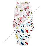 TALINU rosa Pucksack aus 100 % Baumwolle mit praktischem Klettverschluss - Motiv 'Prinzessin' – geeignet für Neugeborene von ca. 1 - 3 Monaten, 3 - 6 kg – ideal für warme Sommermonate - Strampelsack, Pucktuch
