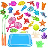Magnete Angelspiel, Togather Wasserspiel Badewannenspielzeug Lernspiel für Kinder ab 3 Jahre