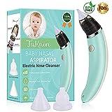 Nasensauger Baby Nasal Aspirator USB Aufladen Nasenschleimentferner Sicherer und Schneller Sowie Hygienischer, 5 Saugstufen mit 2 Größen Silikon Tipps