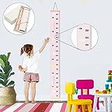 Jeteven Messlatte Tragbare aufrollbar Segeltuch und Holz Messlatte Höhe Diagramm um Kinder von der...