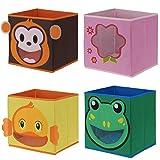 LS Design Kinder Organizer Faltbar Aufbewahrung Box Kiste Schublade Spielzeug Frosch