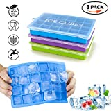 3 Stück Eiswürfelform, ACMETOP Silikon Eiswuerfel Form Eiswuerfelbehaelter Mit Deckel Ice Cube Tray, Eiswürfelformen Eiswürfel Form, LFGB Zertifiziert, 24-Fach