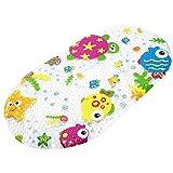 Badewannenmatte, Topsky Badewanneneinlage Baby Wanneneinlage mit Saugnäpfen Bright Cartoon Bedruckt für Kinder Kinder Matte, 39 x 69 cm (Bunt Ocean)