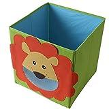 TE-Trend Faltbox Spielbox Tiermotiv Löwe Aufbewahrung Spielzeug Spielzimmer
