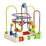 Motorikschleife aus Holz Holzspielzeug Motorikspielzeug Pädagogisches Spielzeug Bead Maze Abakus...