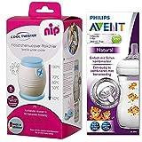 NIP Flaschenkühler Cool Twister NEU inkl. inkl. 1 x Philips Avent NaturNah Flasche mit Motiv 260ml...