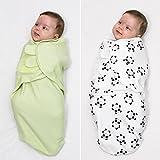 Baby Pucksack 2er Set, 100% Premium Baumwolle, für Säuglinge und nicht nur Schreibabys (S/M, 0-3 Monate oder ca ab der 2. Woche, 3,5-6,4 kg), für alle Jahreszeiten. Unisex. Ideal als Geschenk.