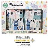 Baby Pucktuch 2er Set - Swaddle Blanket aus 100% Baumwolle OEKO-TEX zertifiziert - leichte & weiche...