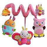 Baby Spiralspielzeug zum Aufhängen, Spielzeug für Kinderwagen mit Glocke
