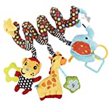 YeahiBaby Spirale Bett Kinderwagen Spielzeug Kleinkind Baby Aktivität pädagogische Plüschtier Affe Elefant Plüschtier