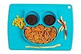 Qshare - Mini Silikon Tischset 28x20x2.5cm, ein Schüssel für Babys, Kleinkinder und Kinder,...