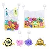 LEF Perfektes großes Bad Spielzeug Netz für Badewanne Spielzeugnetz & Badezimmer Lagerung mit 6...