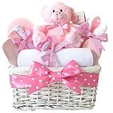 Angel en osier blanc rose bébé Panier Cadeau/Panier/Baby Pour Bébé/Cadeau de douche NEW ARRIVAL...